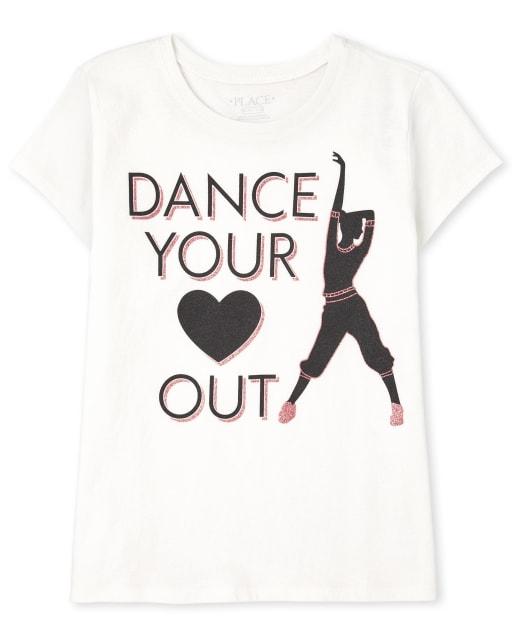 Girls Short Sleeve Dance Graphic Tee