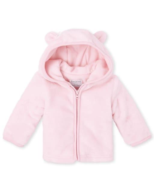 Chaqueta acogedora de piel sintética de oso para bebé niña