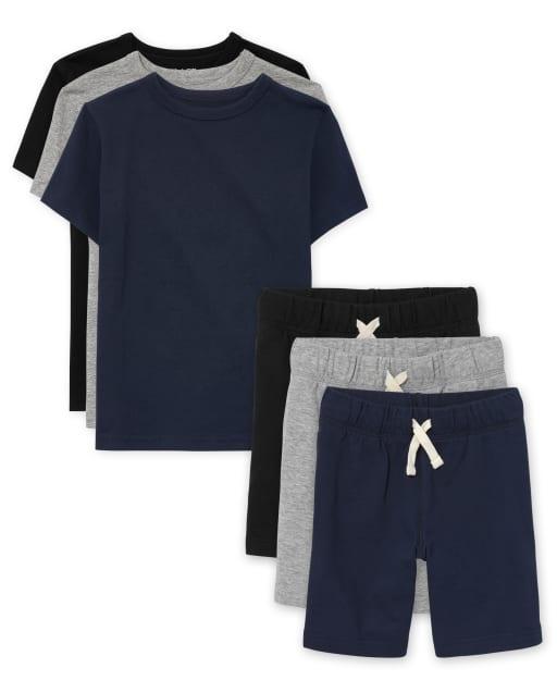 Conjunto de camiseta de capas de uniforme para niños de 6 piezas