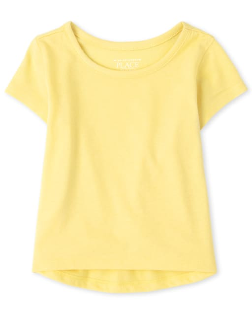 Baby And Toddler Girls Short Sleeve Basic Layering Tee