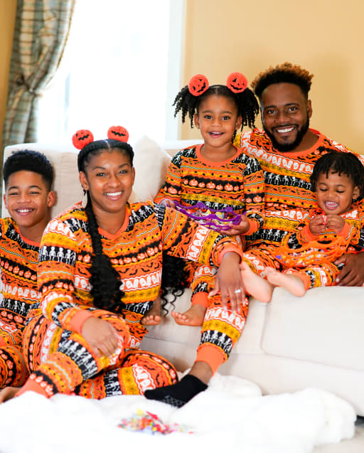 Matching Family Pajamas - Halloween Fairisle Collection