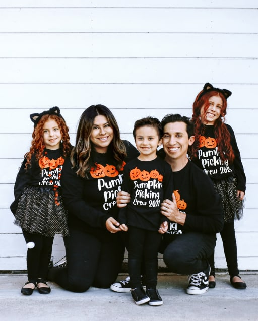 Matching Family Graphic Tees - Pumpkin Picking Collection