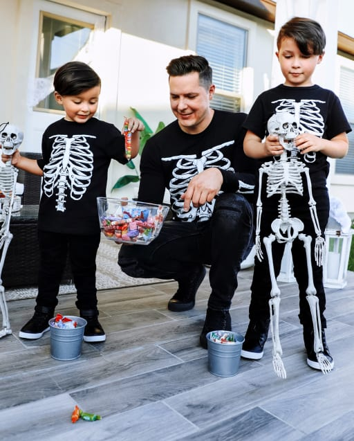Dad And Me Graphic Tees - Glow Skeleton Collection
