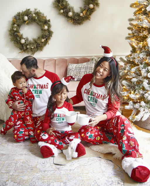 Matching Family Pajamas - Christmas Crew Red Collection