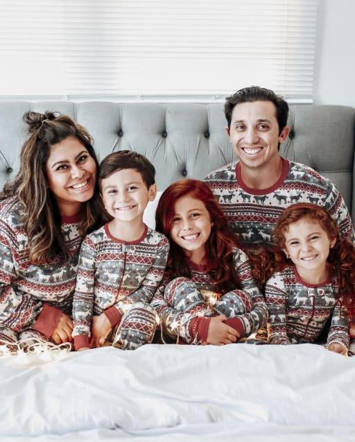 Matching Family Pajamas - Thermal Reindeer Fairisle Collection