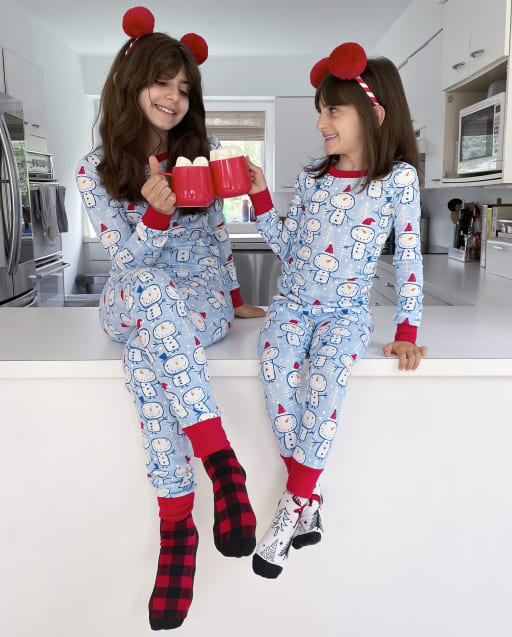 Matching Family Pajamas - Snowman Collection