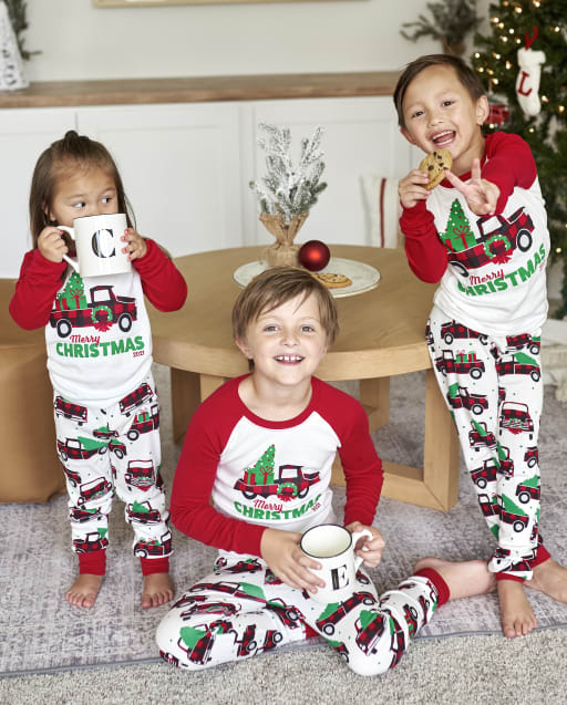 Matching Family Pajamas - Christmas Truck Collection