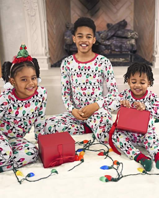Matching Family Pajamas - Glow Christmas Lights Collection