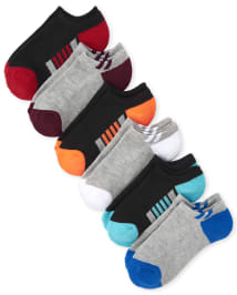 The Childrens Place Boys Big 6 Pack Novelty Graphic Ankle Socks