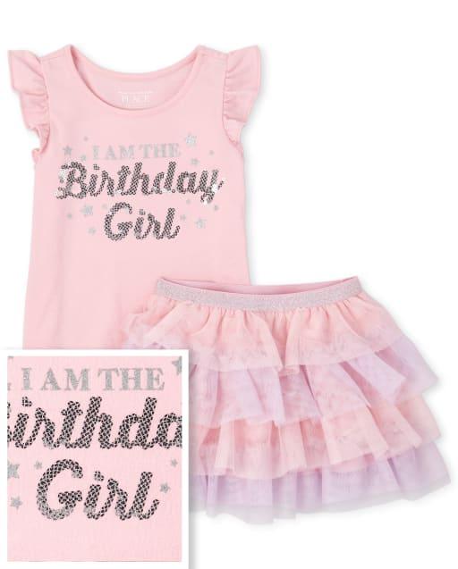 The Childrens Place Baby Girls Rainbow Mesh Skirt