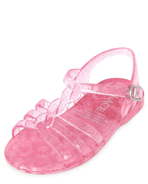 Toddler Girls Glitter Jelly Sandals