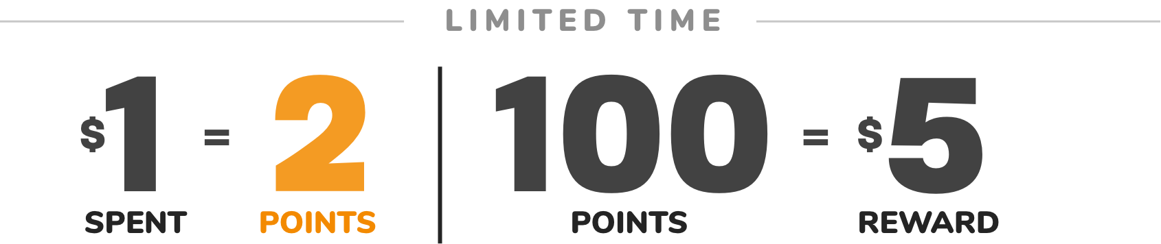 DOUBLE POINTS | LIMITED TIME