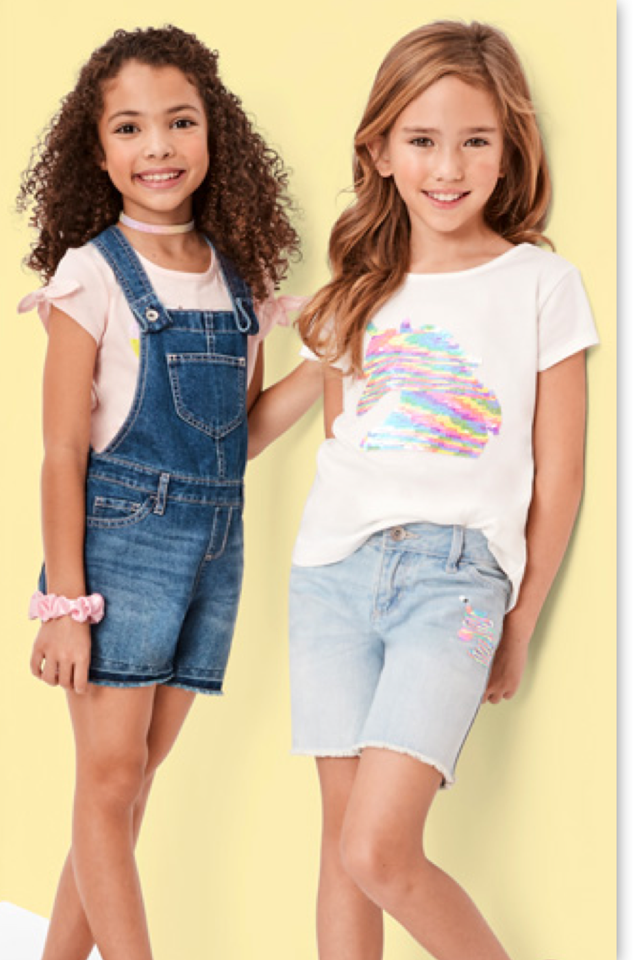 Details about  /Childrens Place Girls T Shirt  Black Gold Love Ruffle Trim