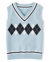 Gymboree Baby Boys Royal Red Argyle Sweater Vest Holiday Size 0-3 3-6 months NWT