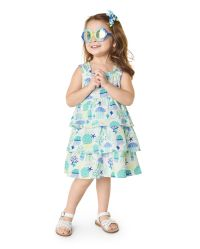 NWT Gymboree Girls Toddler Jellyfish Swimsuit 1 pc UPF 50 12-18-24M,2T,3T,4T,5T