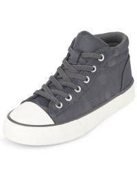 Camo The Children/'s Place Boys/' Camo Street Sneaker Size 3 M US Big Kid