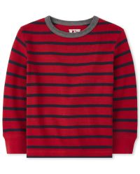 The Childrens Place Boys Baby and Toddler Thermal Henley Top
