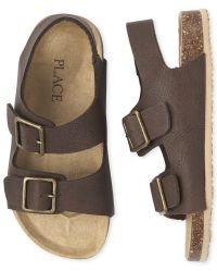 Boys Matching Faux Leather Double Strap