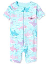KIDHF Toddler Girl Baby Princess Pajamas Shark Cartoon Print Pajamas PJS