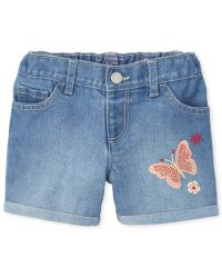 Gymboree Girl White top  w//embroidered butterflies Short Outfit  set SX 4