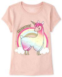MISS POPULAR Girls 5-Pack Printed T-Shirts Panda Crew Neck Selfie Rainbow Pink Grey Short Sleeve Size 4-16 Unicorn