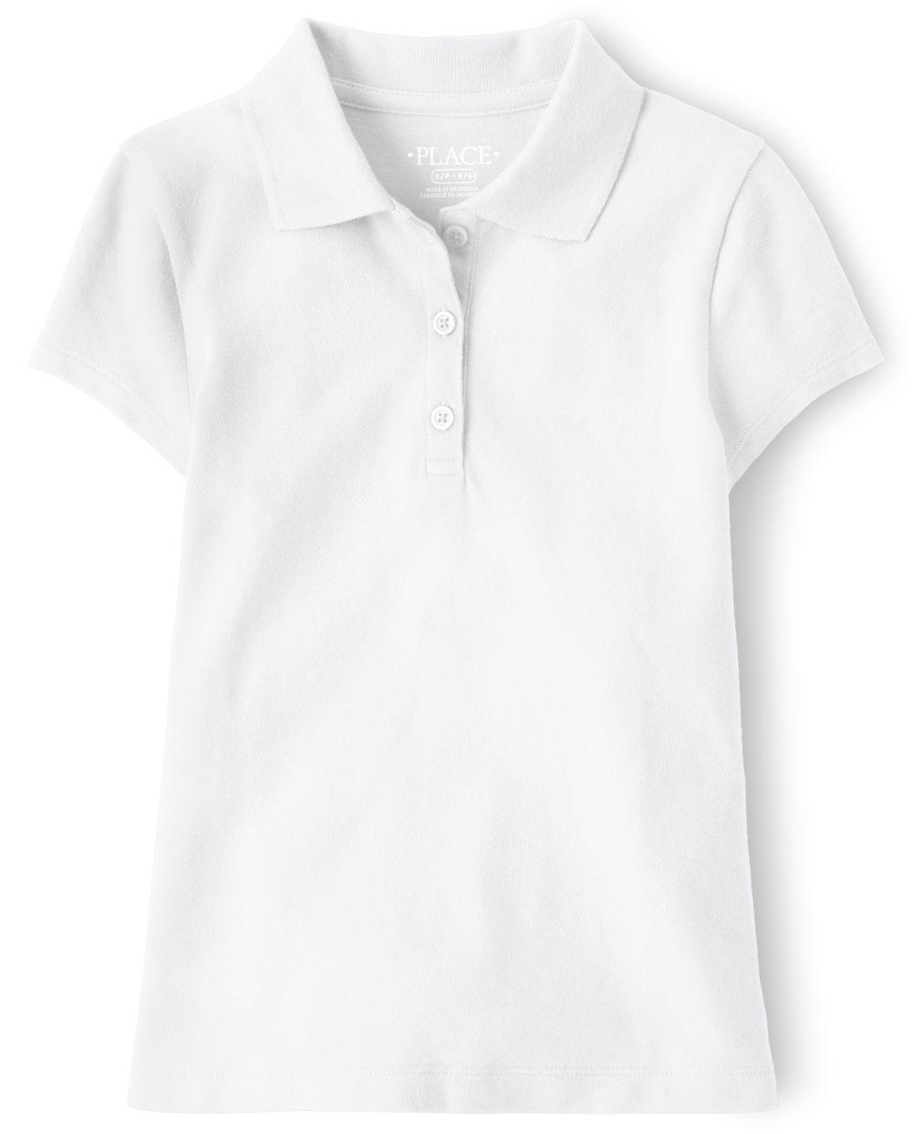 Compare Girls Uniform Pique Polo