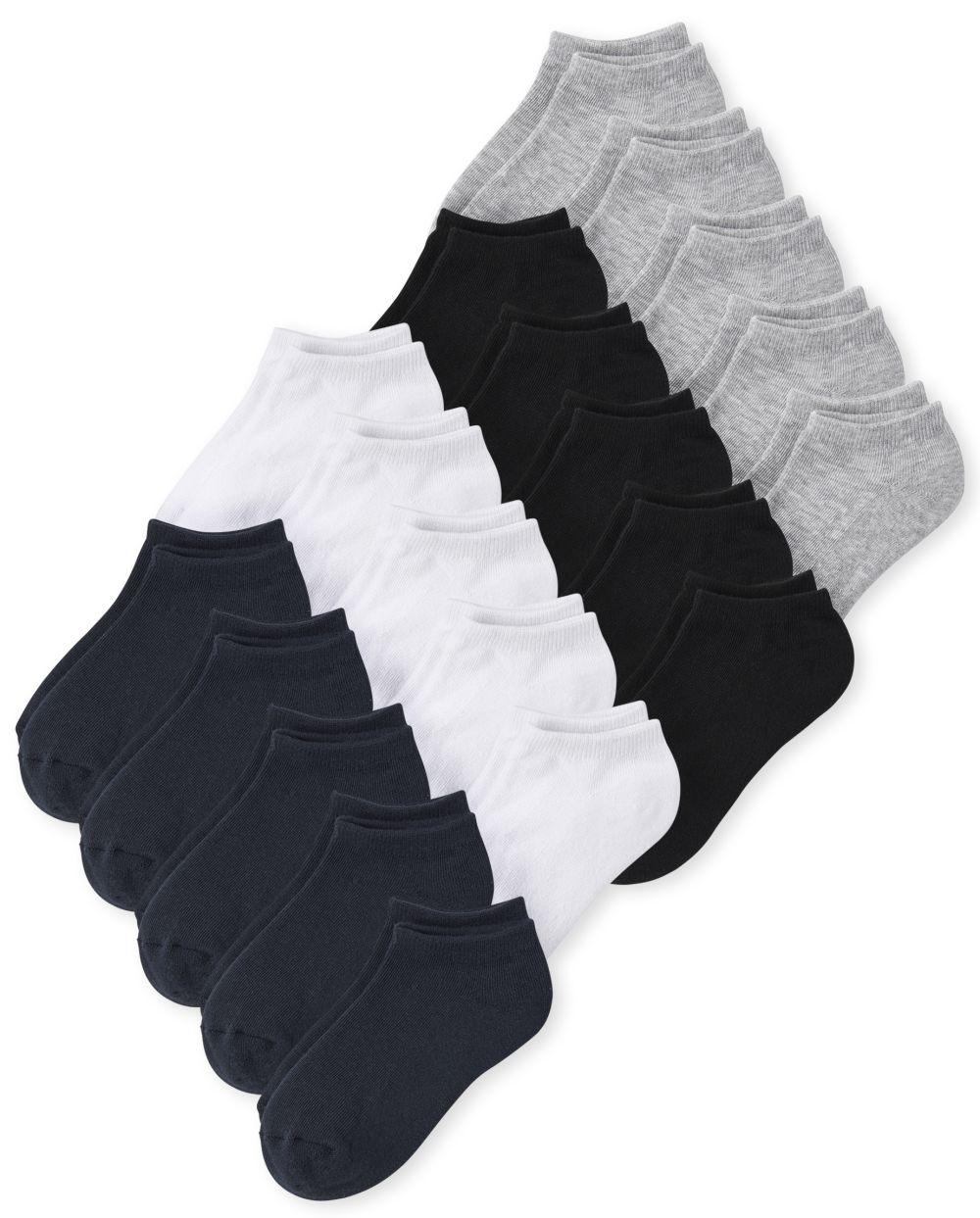 Boys Unisex Kids Ankle Socks 20-Pack - Multi
