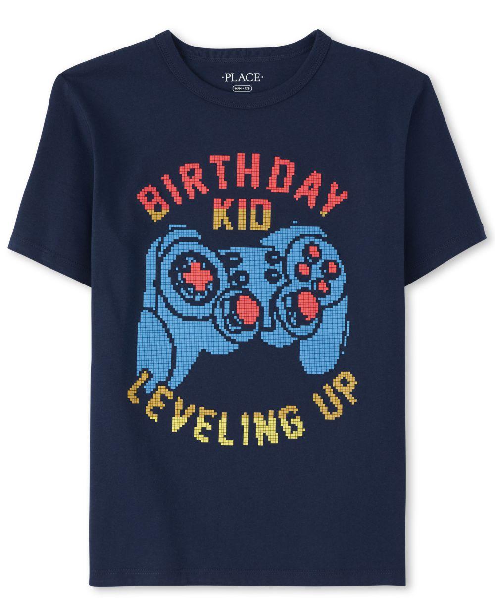 Boys Birthday Video Game Graphic Tee - Blue T-Shirt
