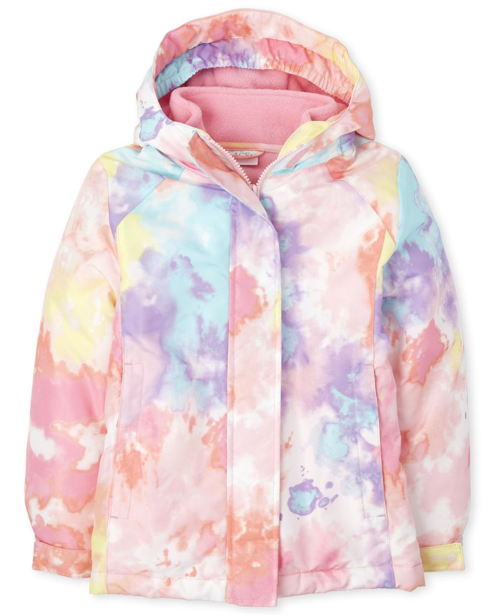Girls Print 3 In 1 Jacket - Pink