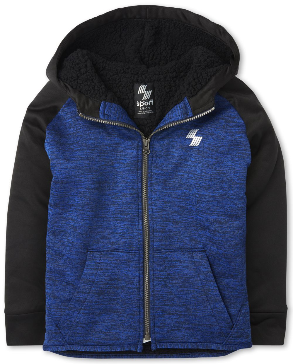 Boys Boys Active Sherpa Performance Zip Up Hoodie - Blue - The Children's Place