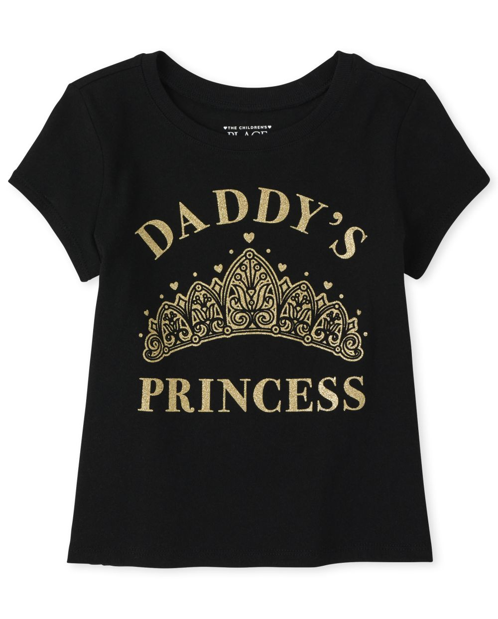 Baby And Toddler Daddy's Princess Graphic Tee - Black T-Shirt