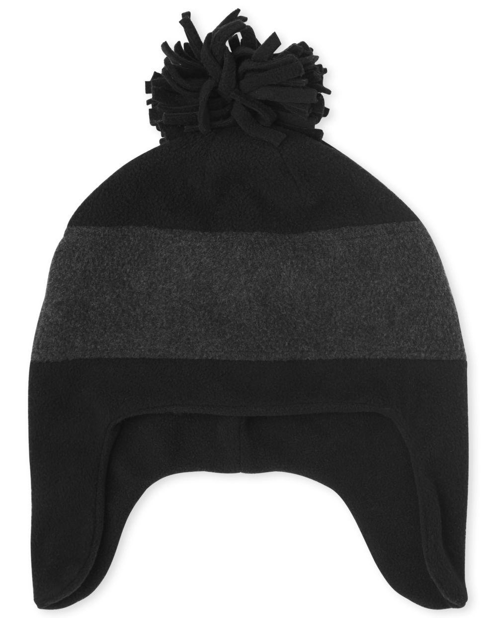 Boys Colorblock Glacier Fleece Hat - Black