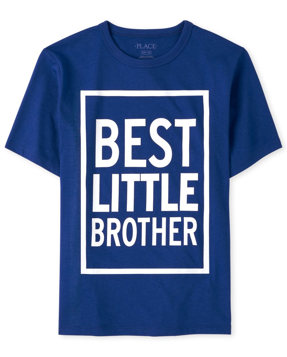 Boys Best Little Brother Graphic Tee - Blue T-Shirt