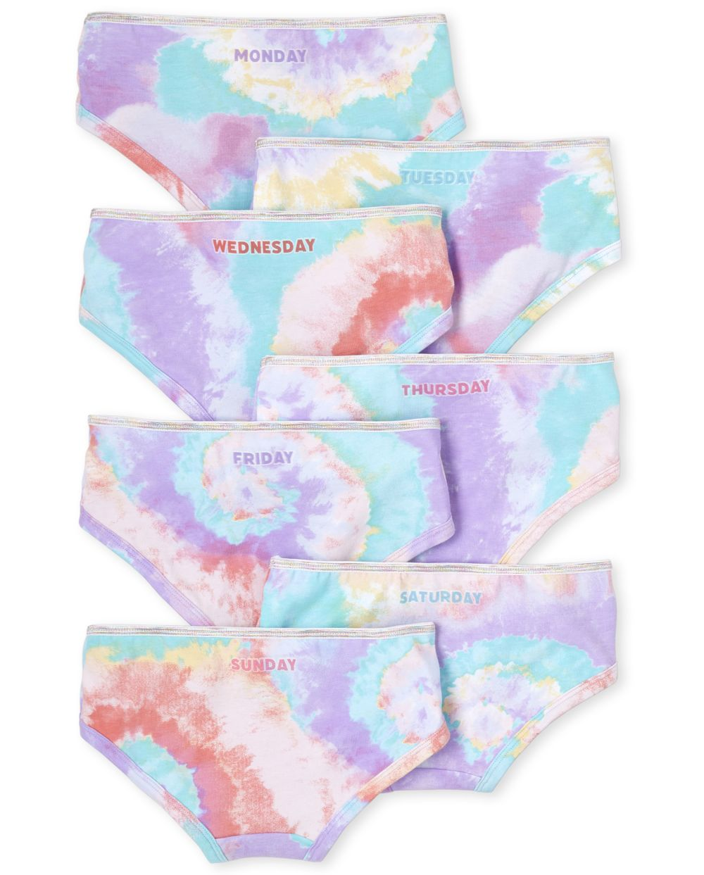 s Tie Dye Days Of The Week Hipsters 7-Pack - Multi - The Children's Place