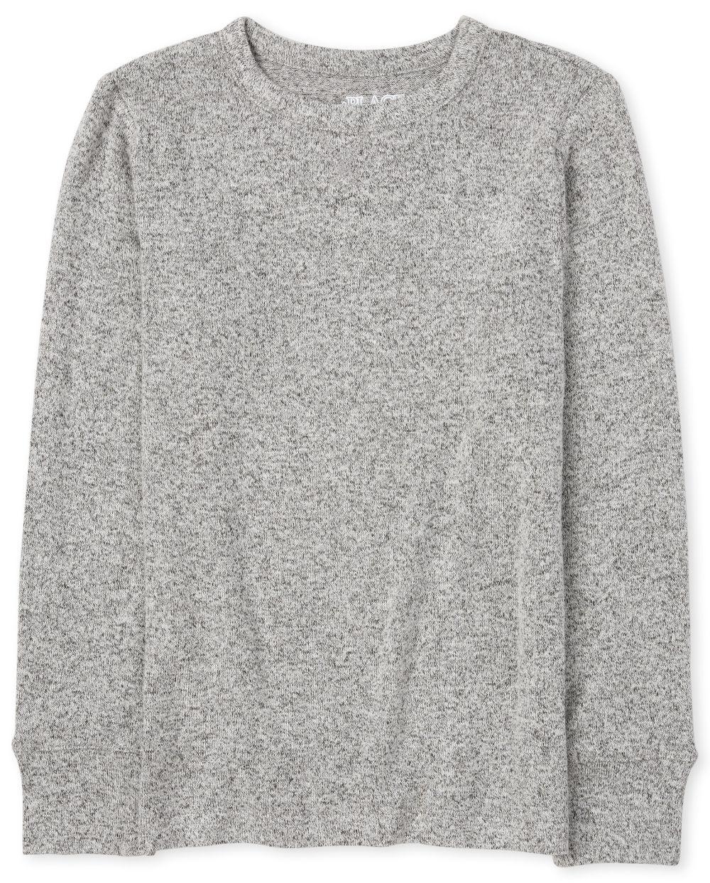 Boys Cozy Lightweight Sweater - Gray