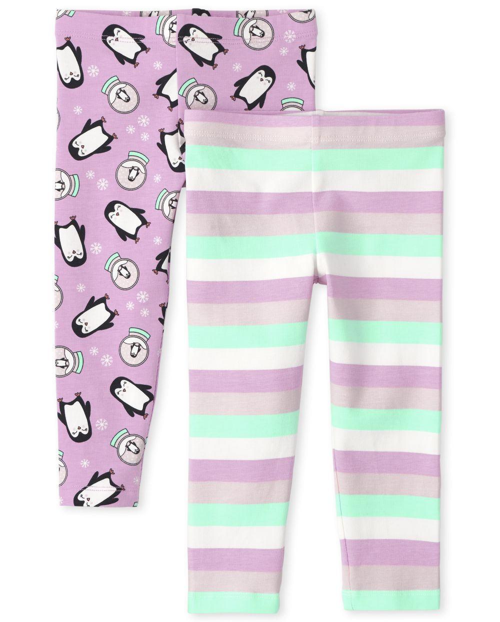 Baby Girls Toddler Print Leggings 2-Pack - Pink - The Children's Place