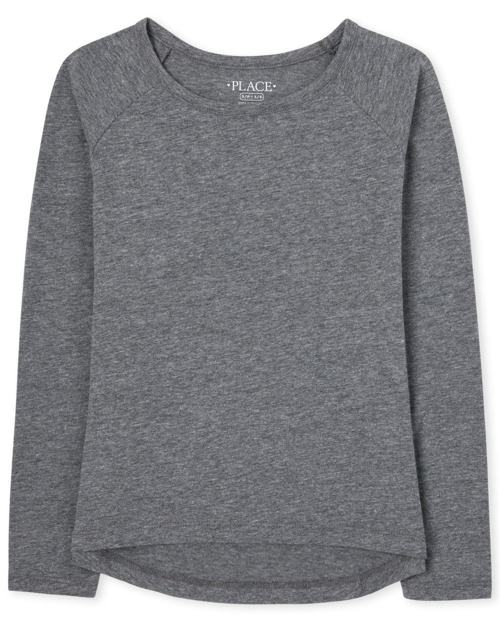 Girls Basic Layering Tee - Gray T-Shirt