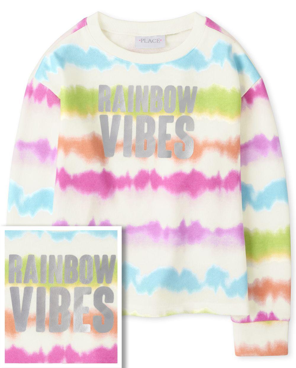 Girls Tie Dye Cozy Pullover - White