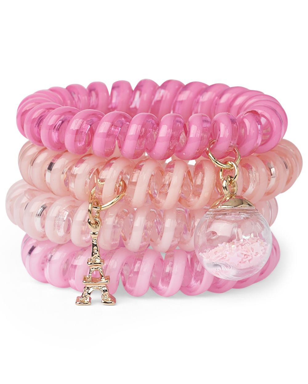 Girls Paris Coil Bracelet 4-Pack - Multi