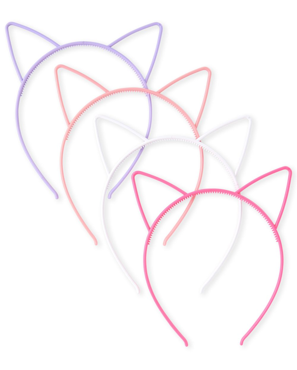Girls Cat Ears Headband 4-Pack - Multi