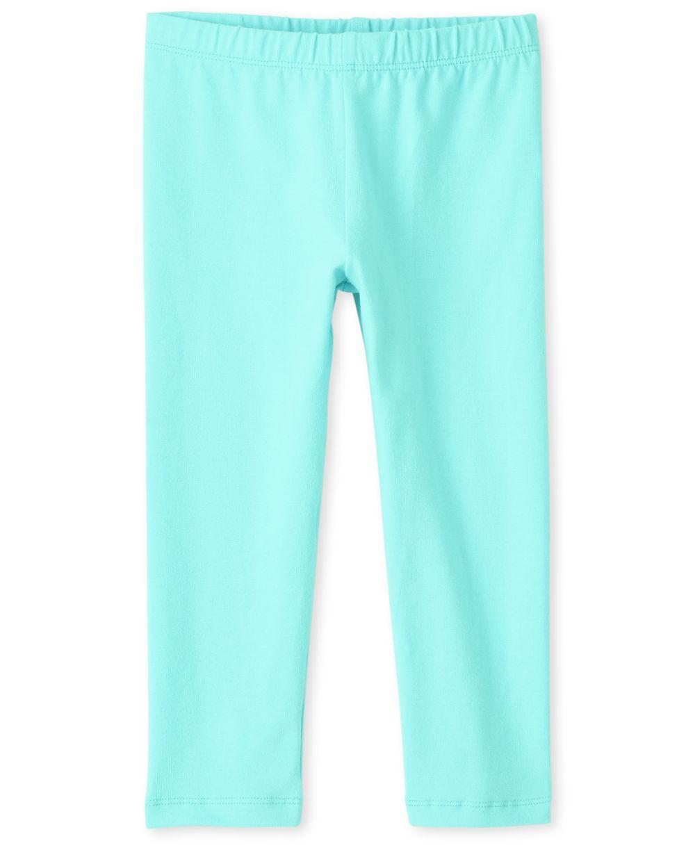 Girls Capri Leggings - Blue