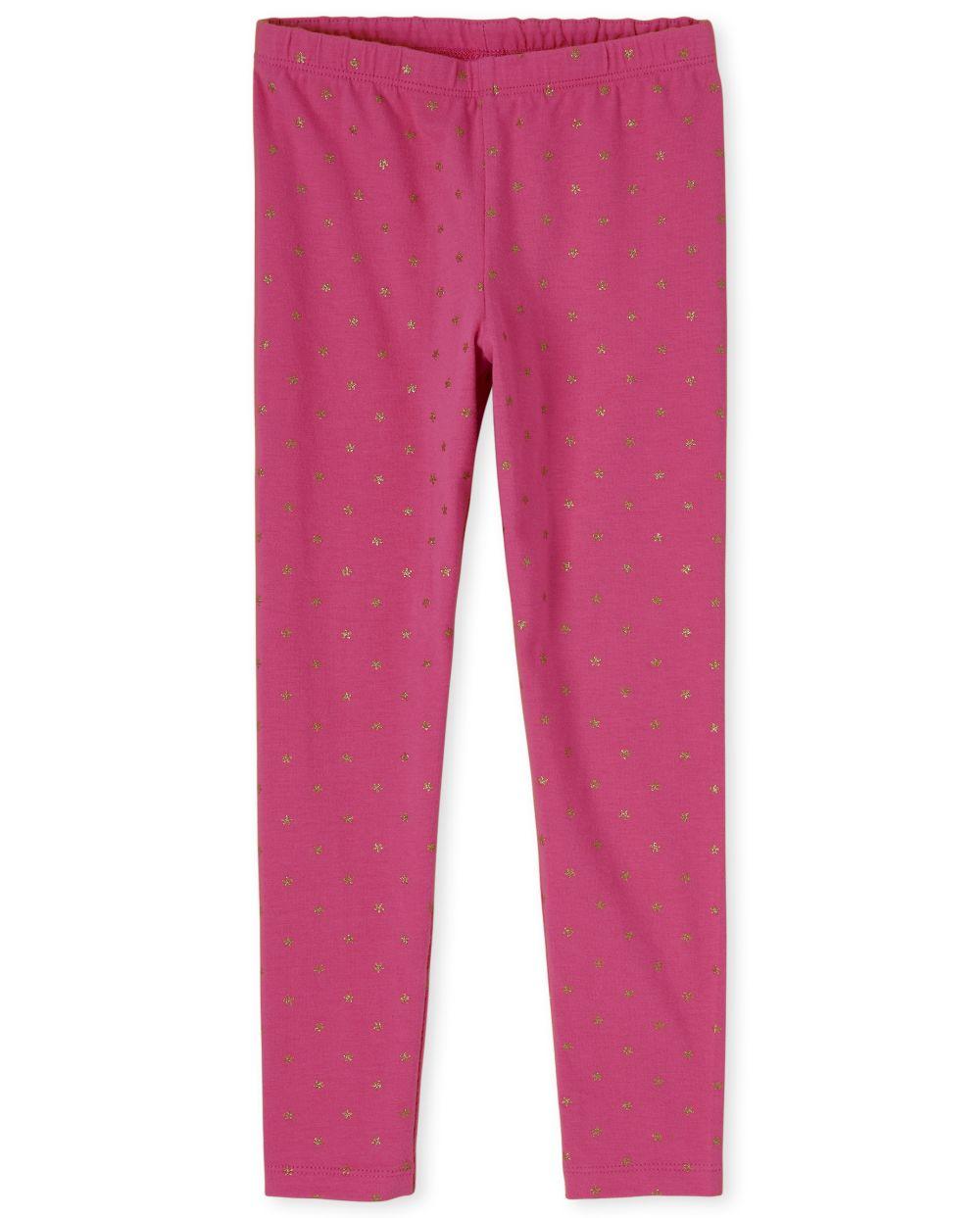 Girls Embellished Leggings - Pink