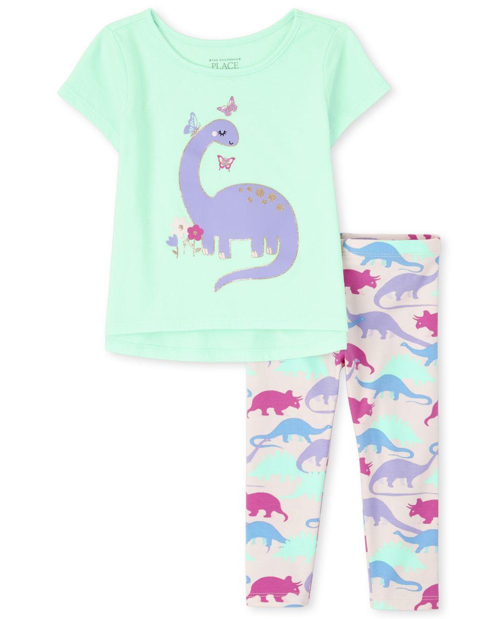 Baby Girls Toddler Dino 2-Piece Set - Green