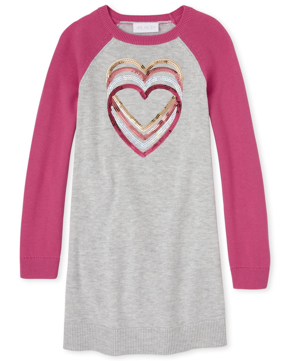 Girls Sweater Raglan Sleeves Dress
