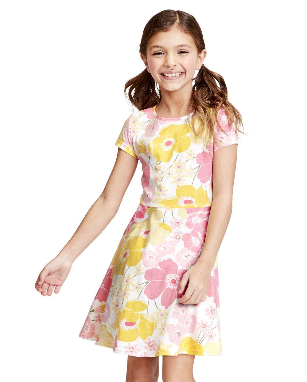 Girls General Print Skater Dress