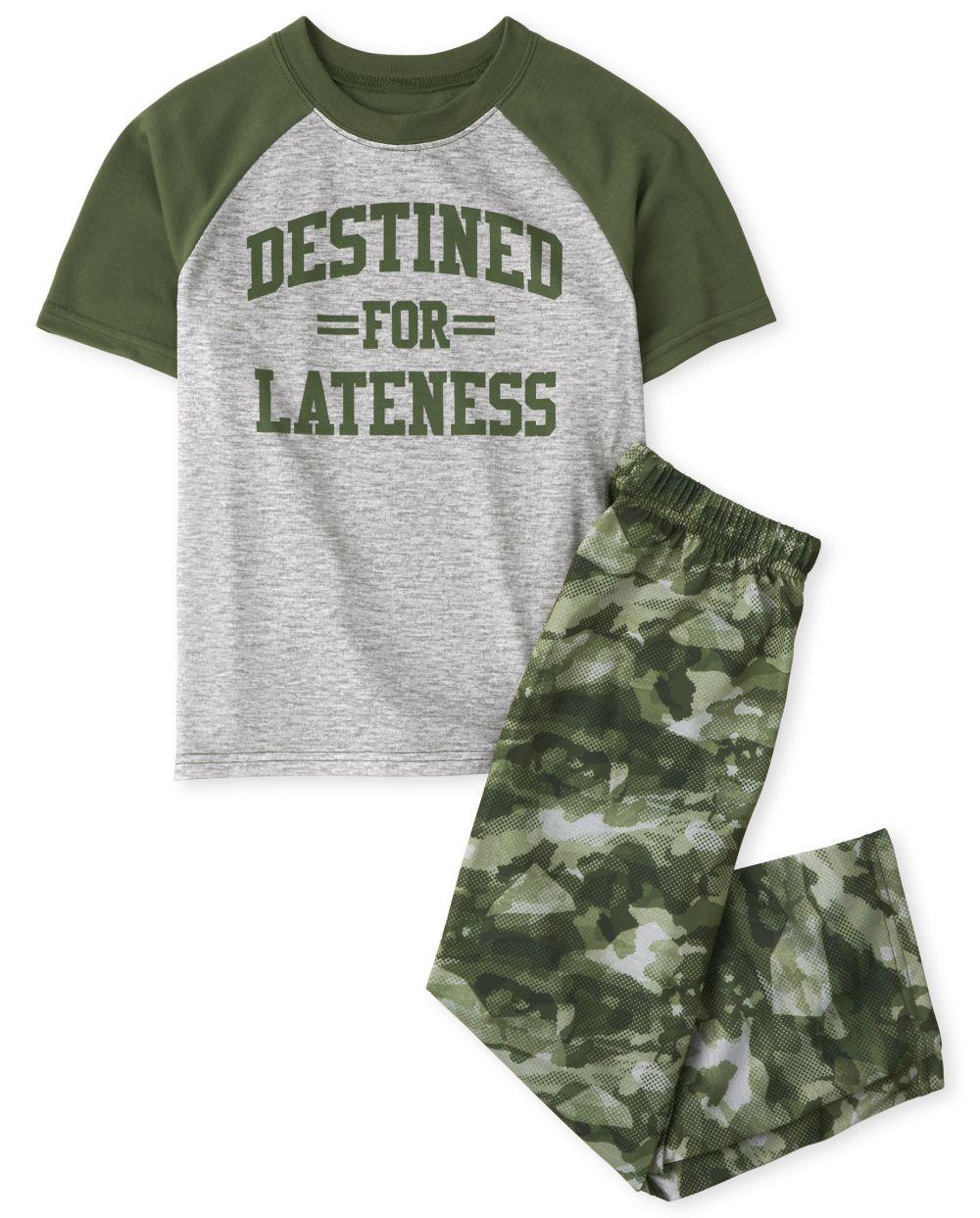 Boys Lateness Pajamas - Green
