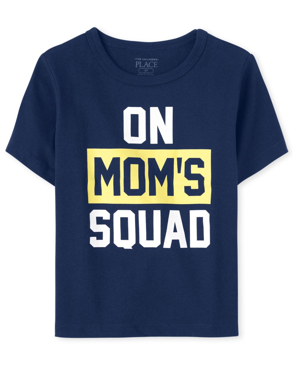 Baby And Toddler Boys Mom's Squad Graphic Tee - Blue T-Shirt