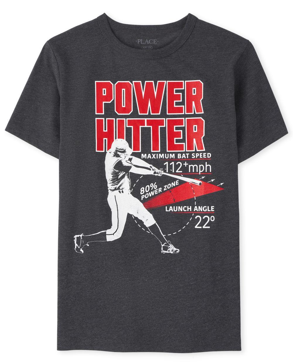 Boys Baseball Graphic Tee - Black T-Shirt