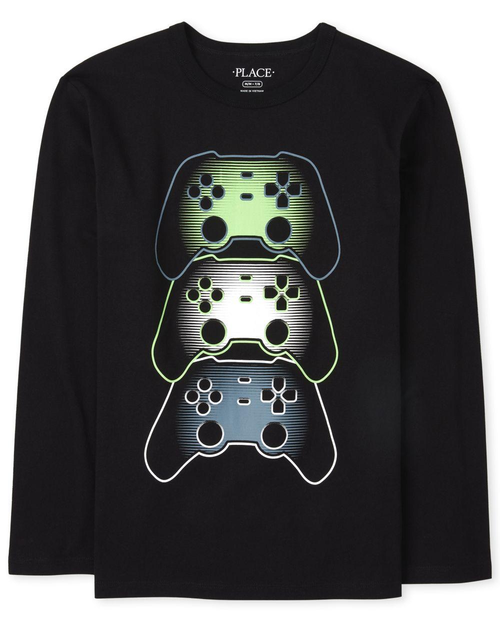 Boys Video Game Graphic Tee - Black T-Shirt