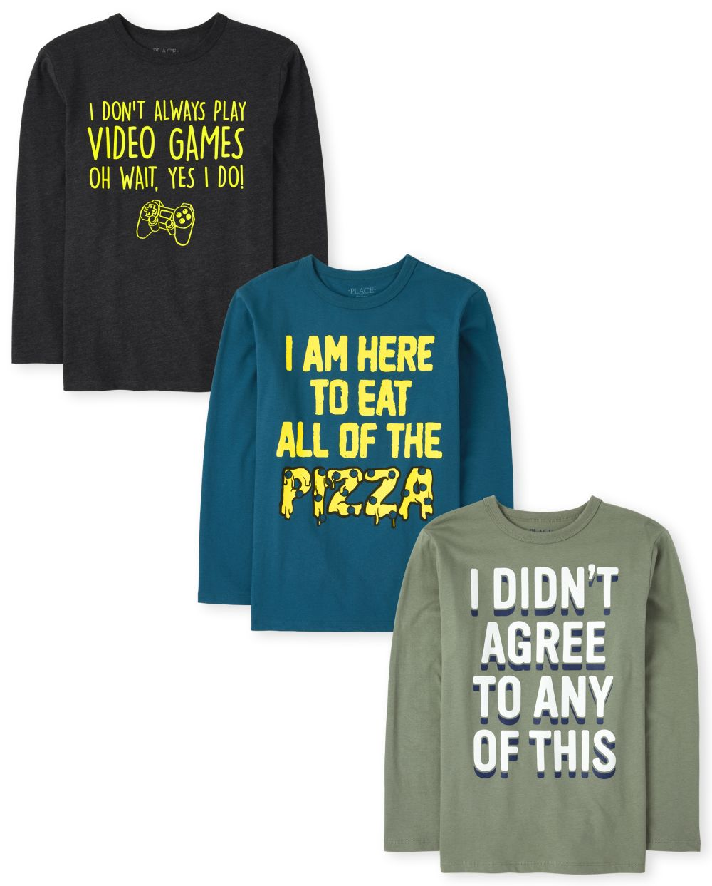 Boys Humor Graphic Tee 3-Pack - Multi T-Shirt